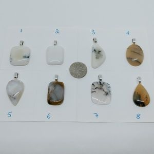 Jewelry - Medium dendrite opal pendants